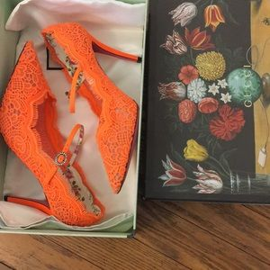 Gucci Virginia Orange Mary Jane Pump